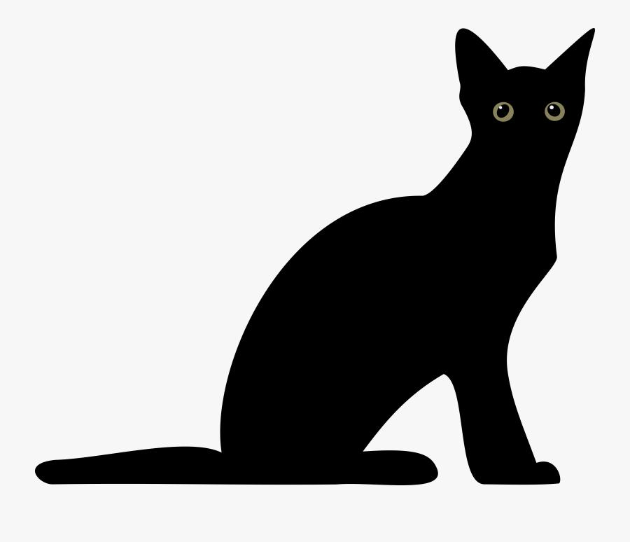 Black Cat Silhouette Png Transparent Png , Png Download - Silhouette, Transparent Clipart