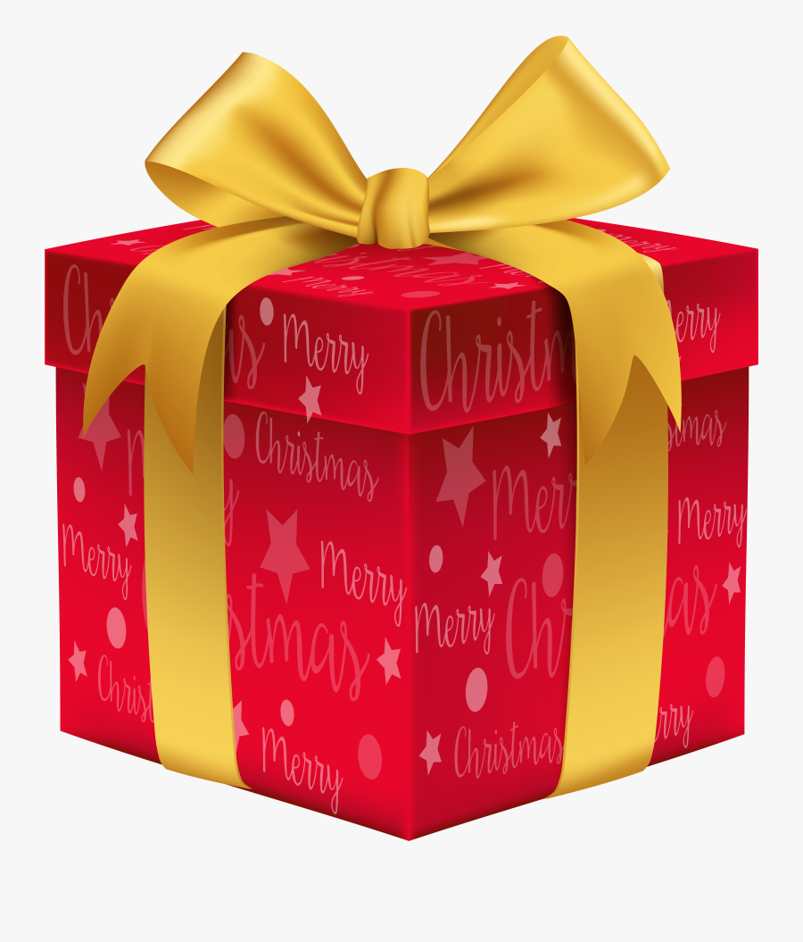 Merry Christmas Red Gift Png Clip Art Image Gallery - Transparent Background Christmas Gift Png, Transparent Clipart
