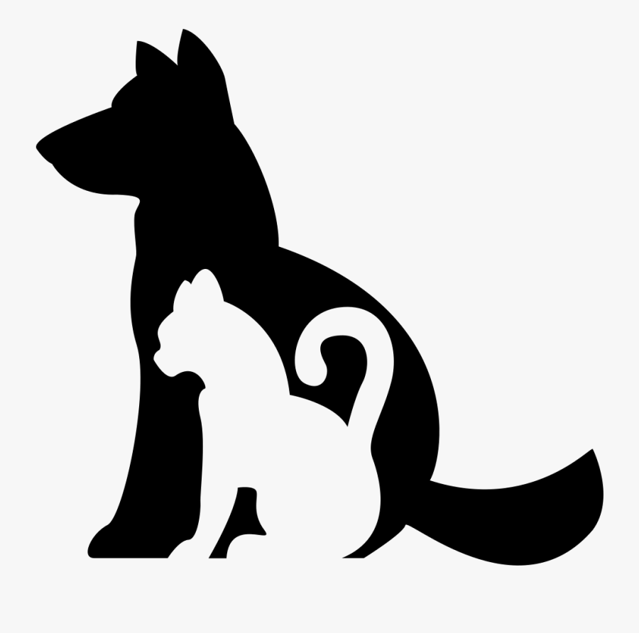 Dog And Cat Silhouette Clip Art Free At Getdrawings - Perro Y Gato Silueta, Transparent Clipart