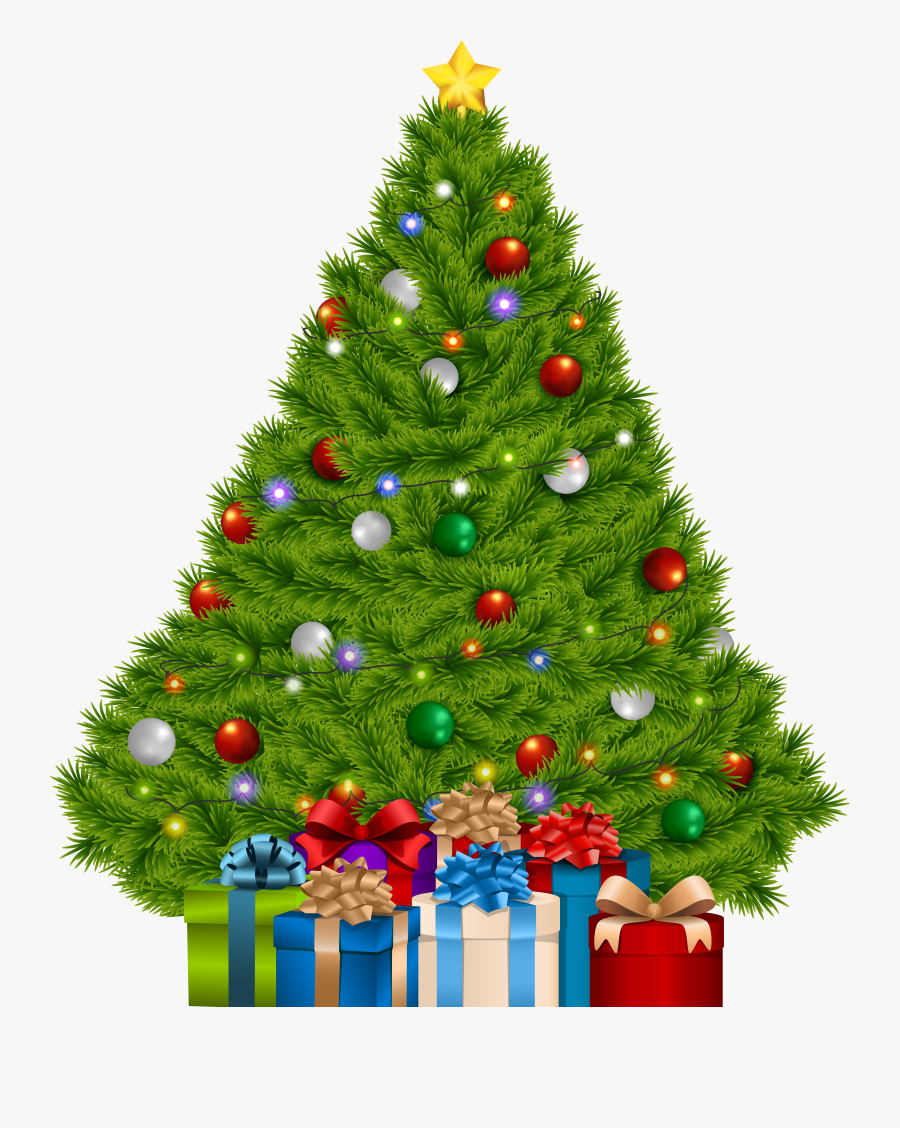 Christmas Tree With Gifts Clipart Png - Christmas Tree With Gifts Clipart, Transparent Clipart