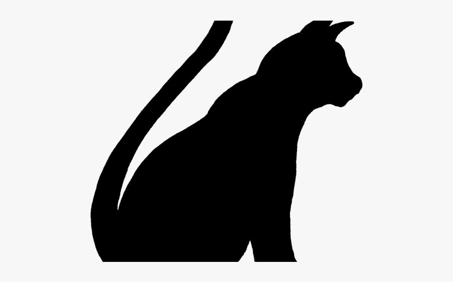 Cat Silhouette Cliparts - Pes Šablona, Transparent Clipart
