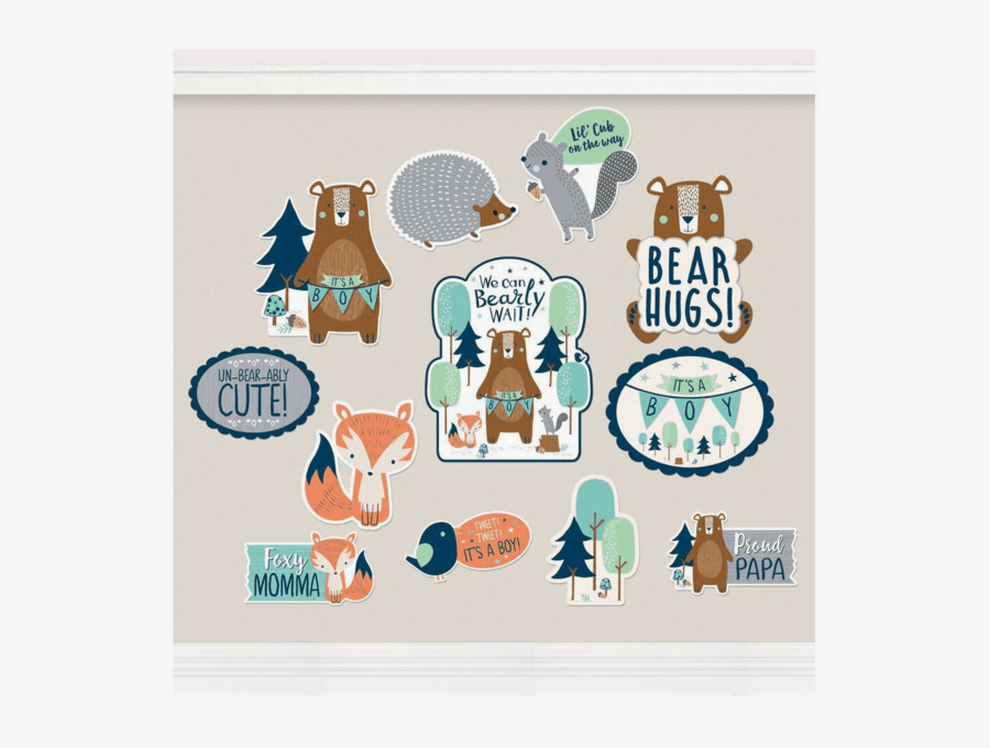 """Mama Bear """"it""""s A Boy - We Can Bearly Wait Baby Shower, Transparent Clipart"""