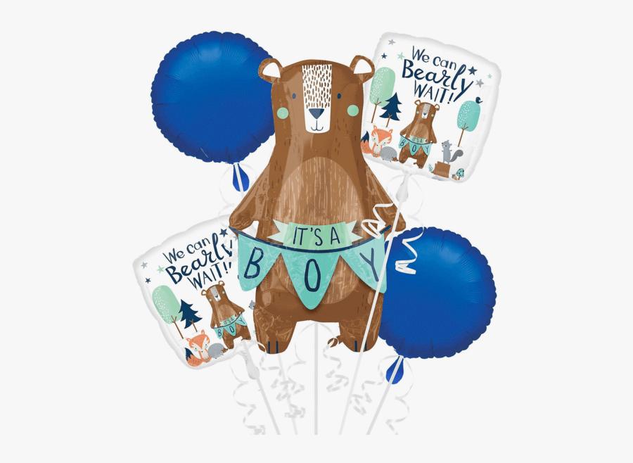 "Mama Bear ""it""s A Boy - Party City Baby Shower Bear, Transparent Clipart"