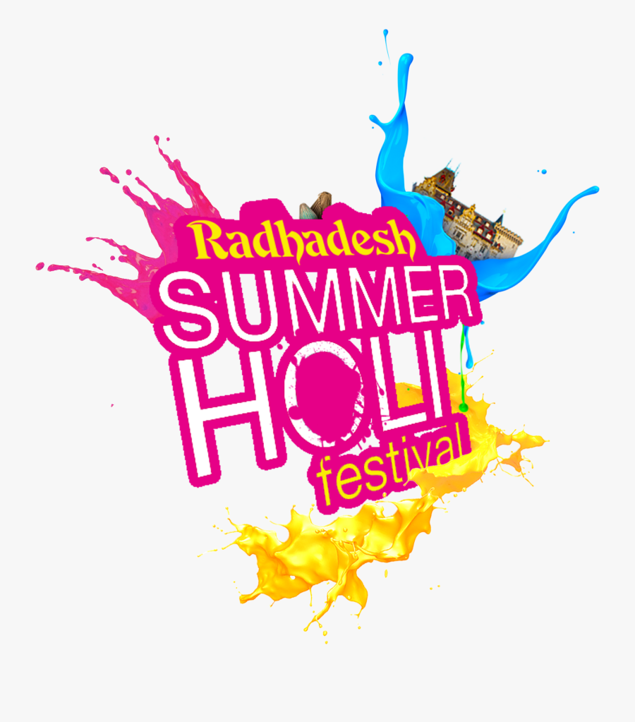 Festival Logo Party Holi Krishna Download Hq Png Clipart - Logo Holi Party Png, Transparent Clipart