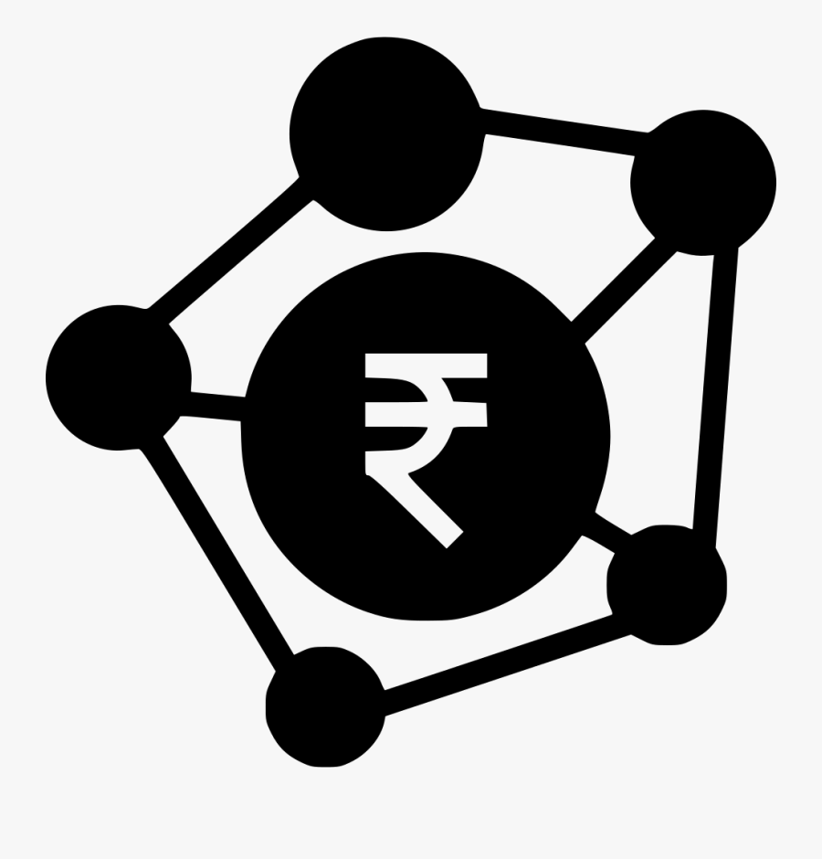 Banking Business Connection Indian Rupee Money Payment - Rupee Bank Vector, Transparent Clipart