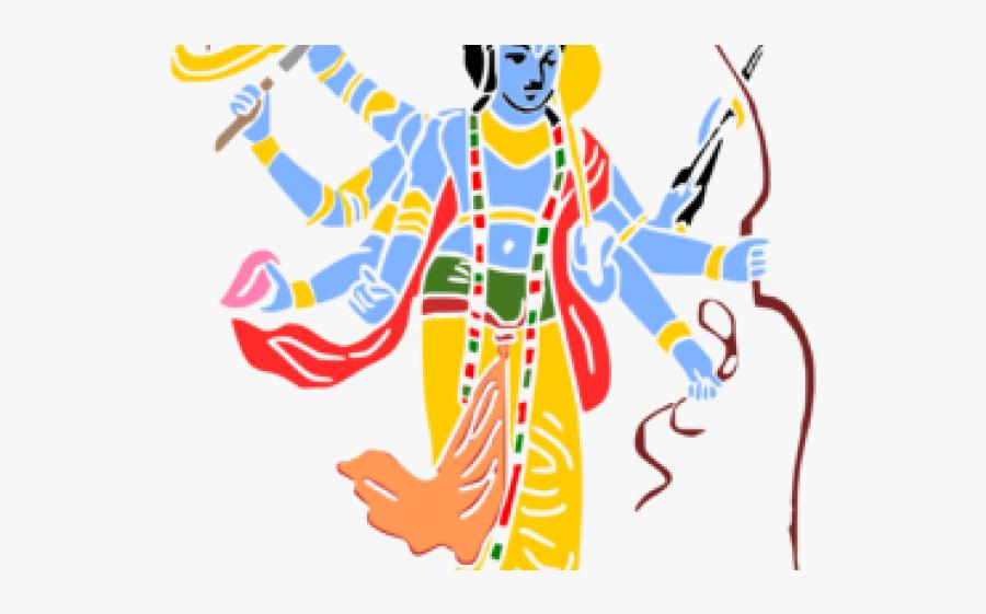 Krishna Clipart - Lord Vishnu Clip Art, Transparent Clipart