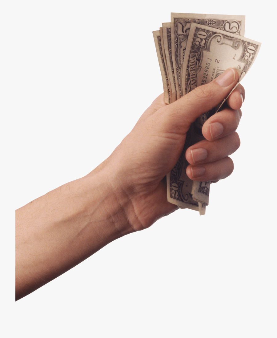 Holding Cash Transparent Stickpng - Hand Holding Money Png, Transparent Clipart