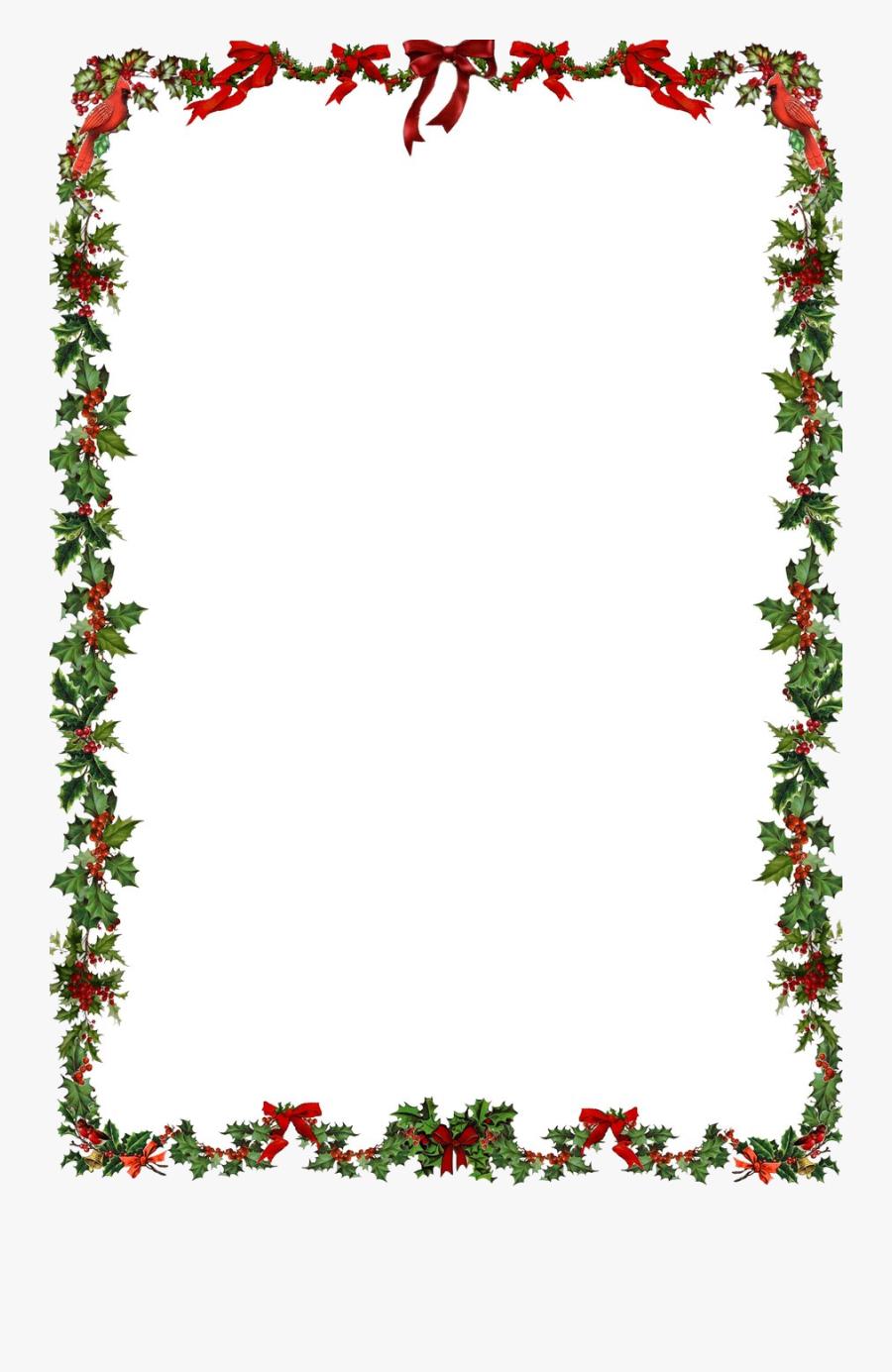 Christmas Border Free Xmas Cliparts Borders Clip Art - Frame Christmas Png, Transparent Clipart