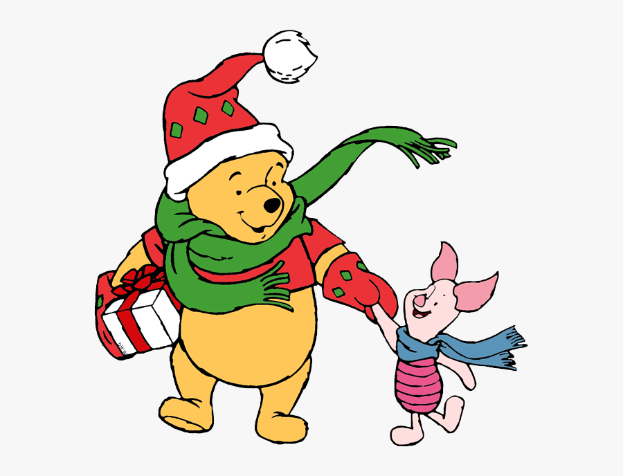 Winnie The Pooh And Piglet Christmas, Transparent Clipart