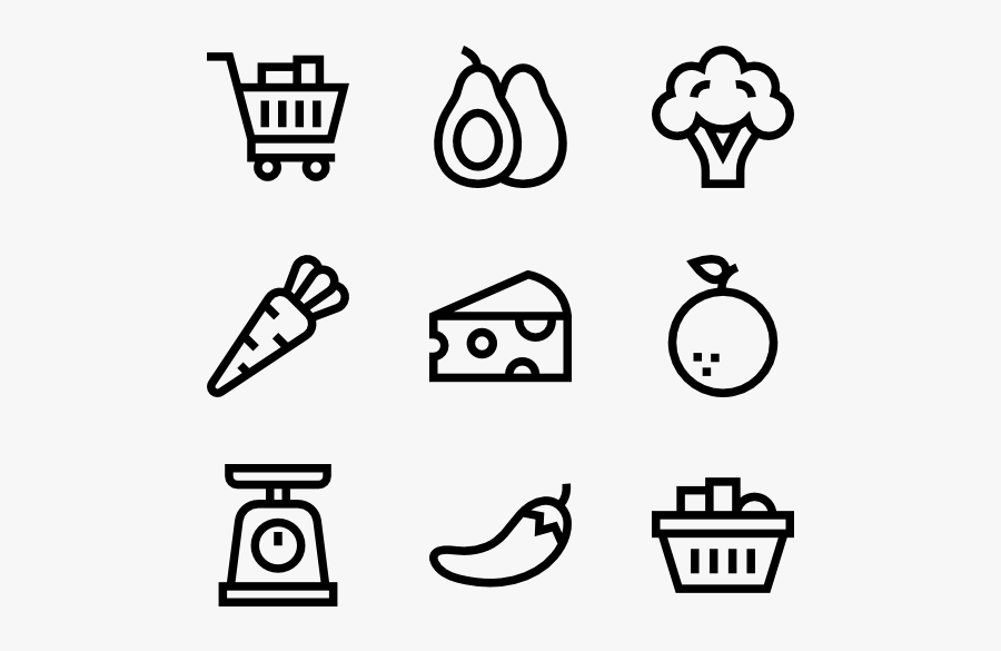 Svg Free Library Grocery Icon Packs - Gas Station Icon Line, Transparent Clipart