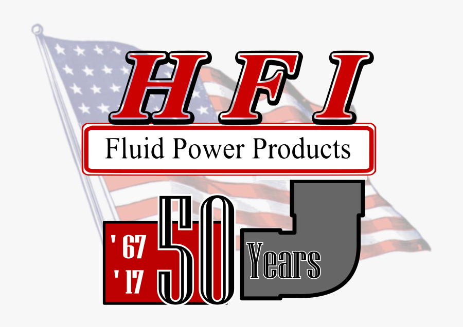 Hfi Fluid Power Products 50th Anniversary, Transparent Clipart