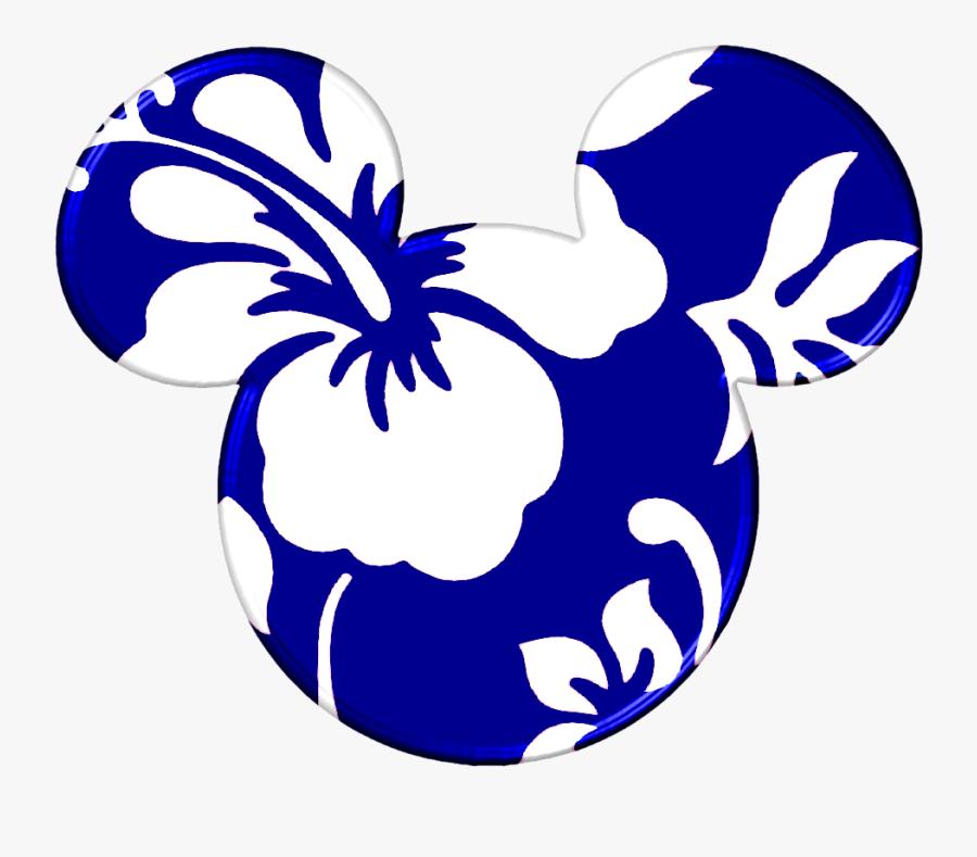 Mickey Heads Hawaiian Style - Mickey Mouse Ears Hawaiian, Transparent Clipart