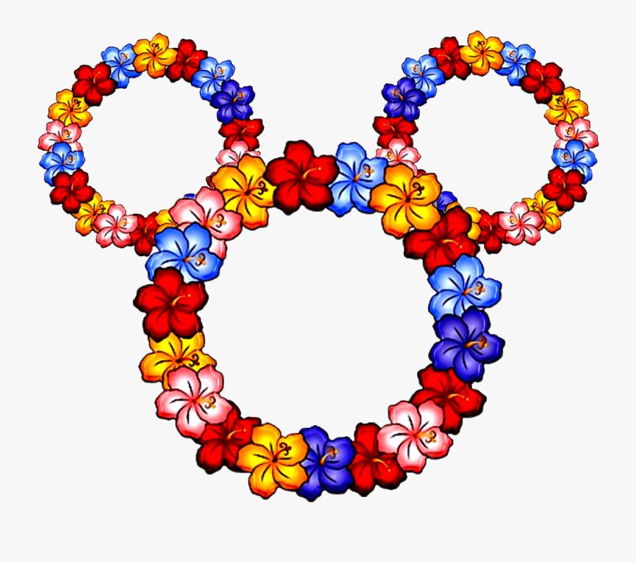 Mickey Mouse Head Clipart - Hawaiian Lei, Transparent Clipart