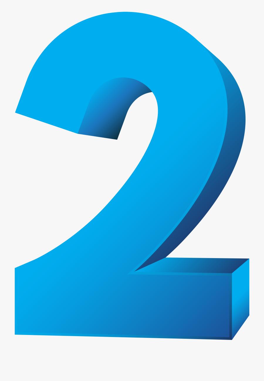 Blue Number Two Transparent Png Clip Art Image - Two Clipart Transparent Background, Transparent Clipart
