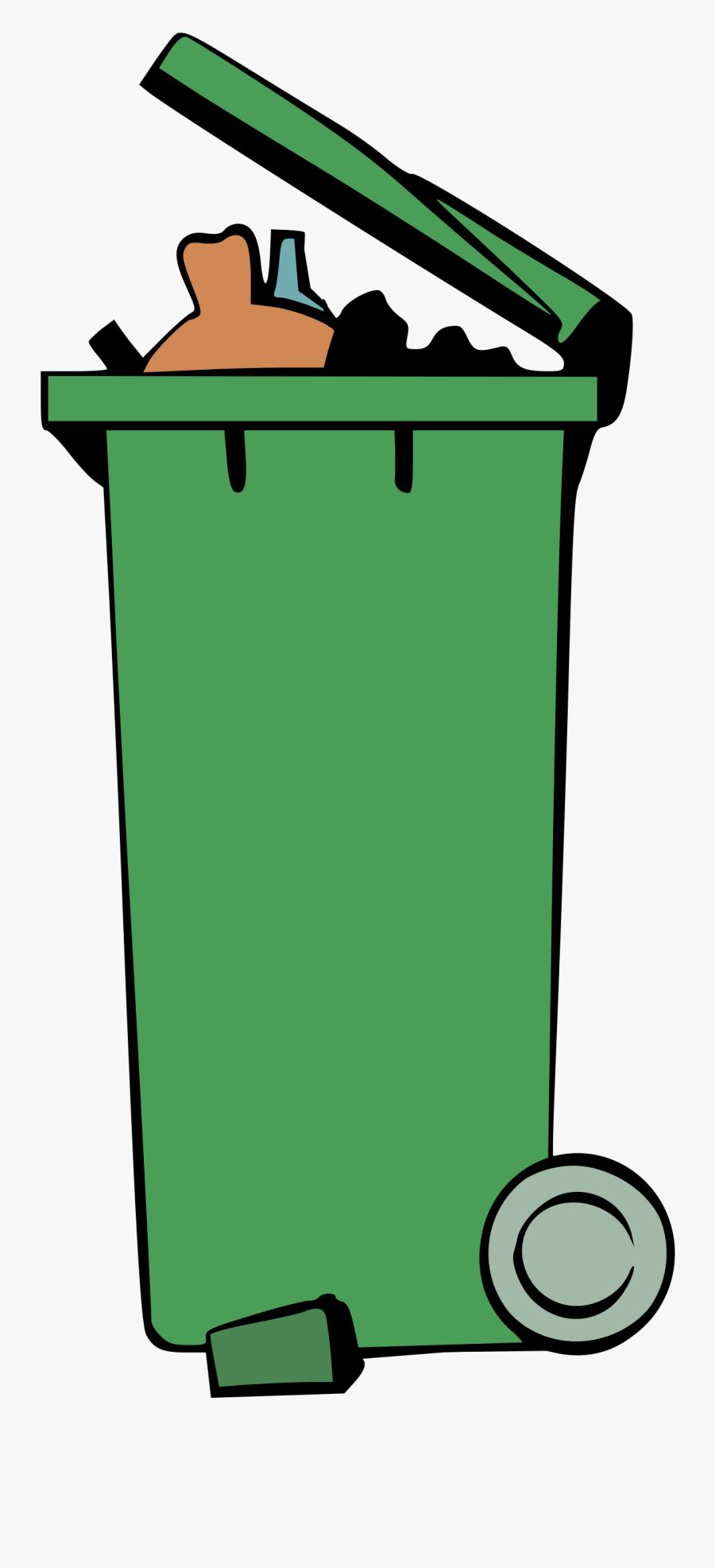 Garbage Bin Clipart - Wheelie Bin Clip Art, Transparent Clipart