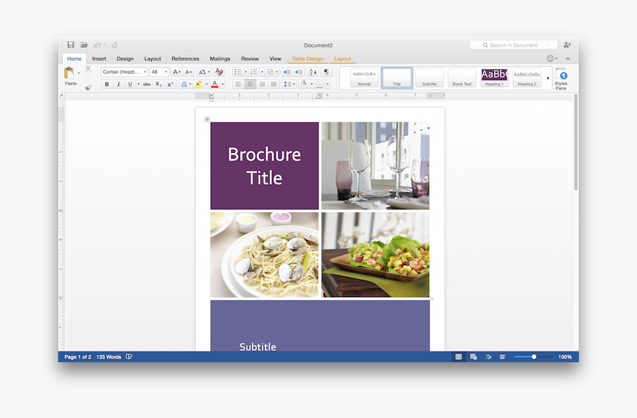 Microsoft Windows Gallery Image - Word 2016 Front Page, Transparent Clipart