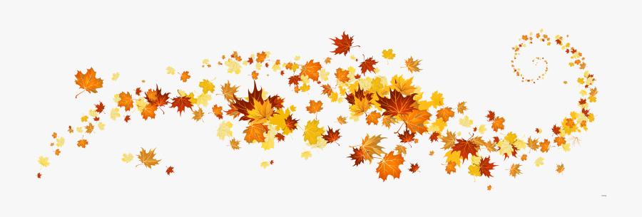 Clip Art Leaves Falling Clipart - Fall Leaves Banner Clip Art, Transparent Clipart
