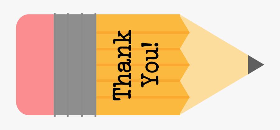 Free Printable Teacher Gift Tags {pencil} Clipart , - Free Printable Teacher Thank You Tag, Transparent Clipart