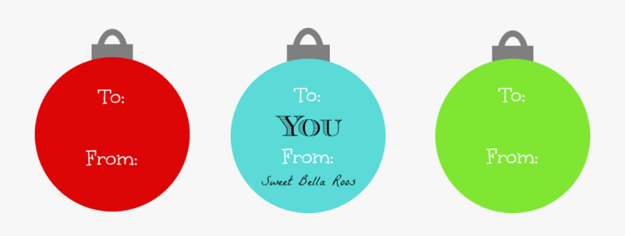 Christmas Gift Tag Template - Printable Ornament Gift Tags, Transparent Clipart