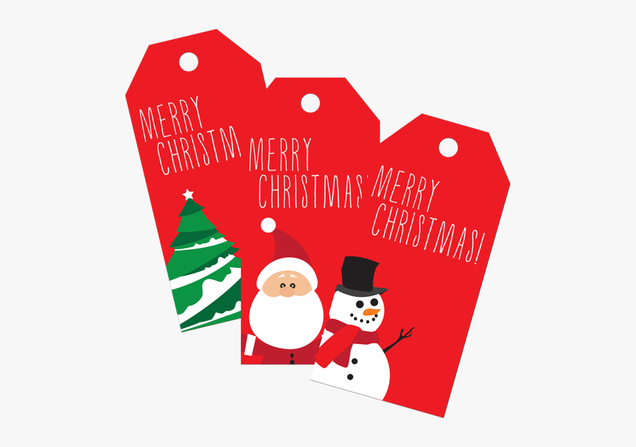 Christmas Gift Tags - Christmas Tree, Transparent Clipart