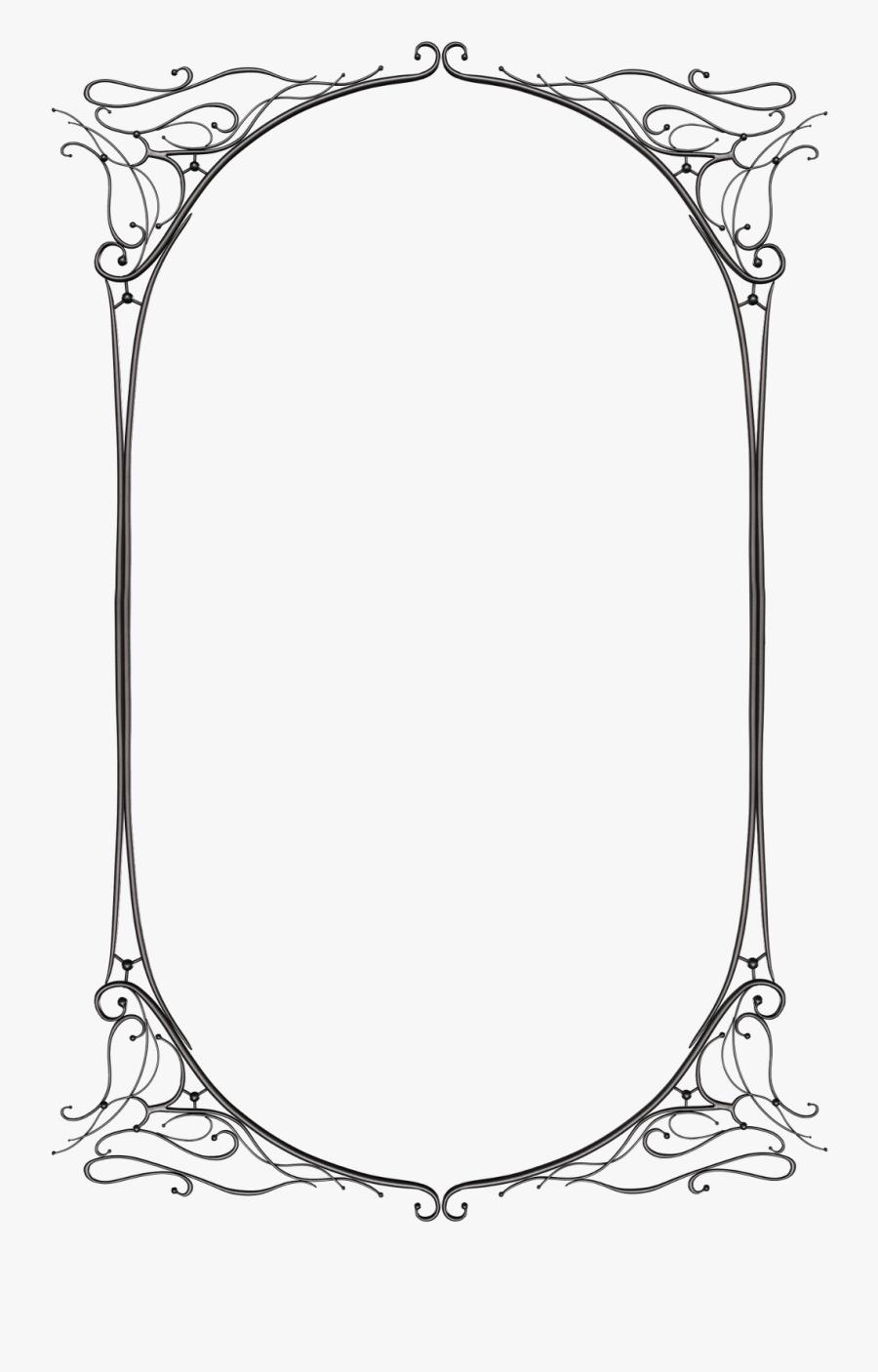 Transparent Rustic Frame Clipart - Transparent Fantasy Border, Transparent Clipart