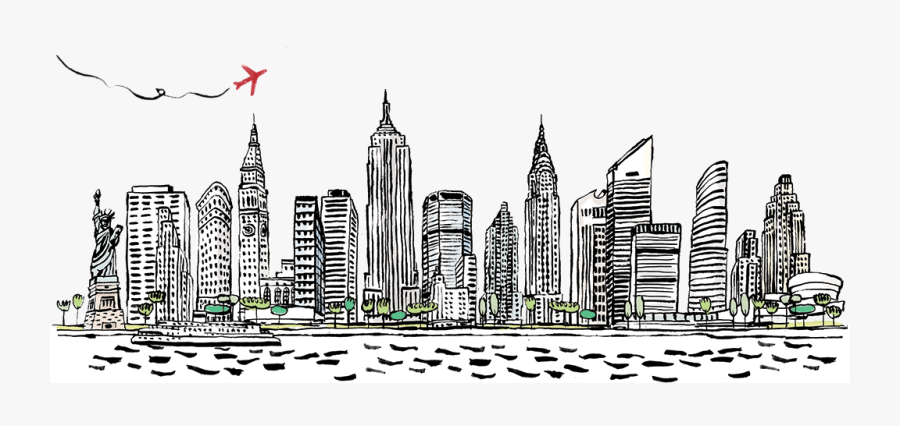 New York City Png Black And White Transparent New York - City New York Png, Transparent Clipart