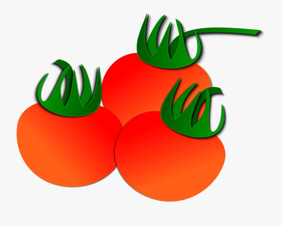 Transparent Vegetable Clipart Free - Transparent Cartoon Tomato, Transparent Clipart