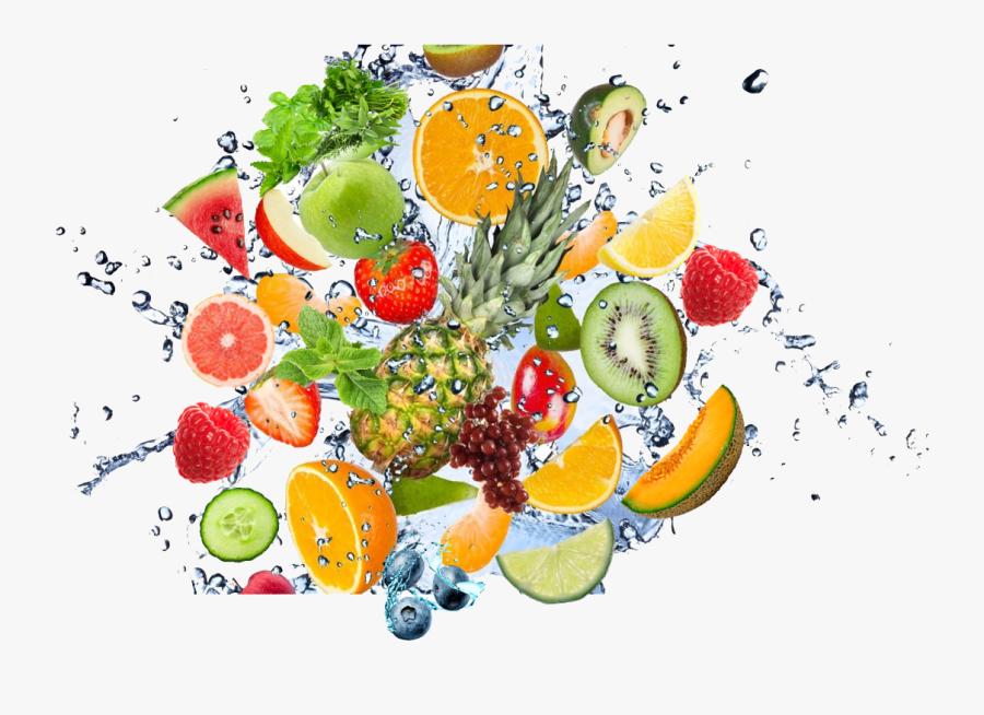 Fruit Water Splash Png Clipart - Mixed Fruit Splash Png, Transparent Clipart