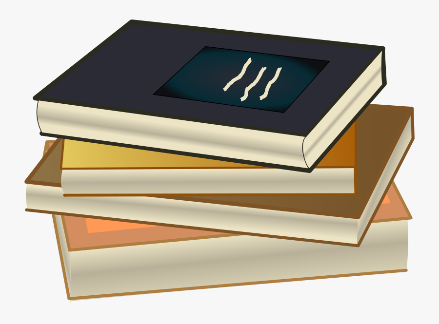 Book Stack - Books Drawing With Color, Transparent Clipart