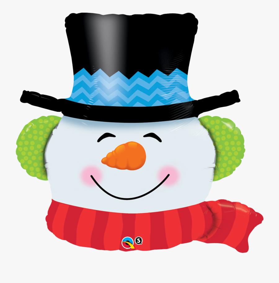 Transparent Globo Clipart - Full Size Snow Man Balloon, Transparent Clipart