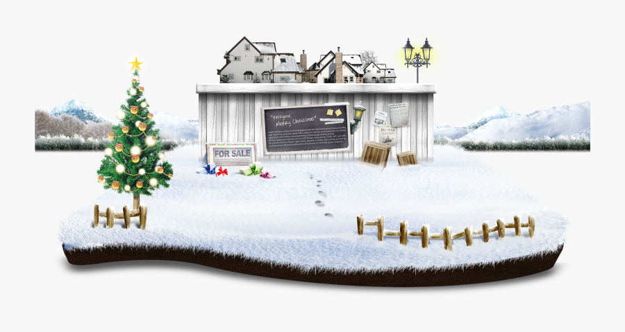 Clip Art Snow Template Winter Scene - Christmas Day, Transparent Clipart