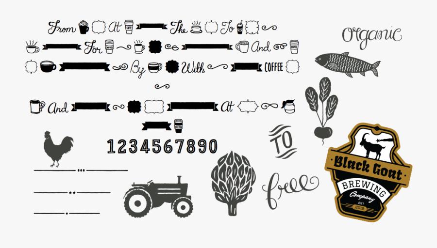 Clip Art Farmers Market Font - Espresso Beans Font, Transparent Clipart