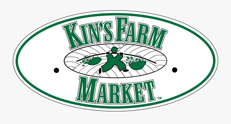 Farming Clipart Farmers Market - Kin's Farm Market Logo, Transparent Clipart
