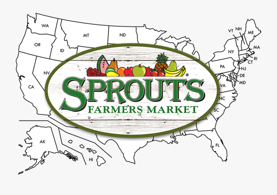 Sprouts Farmers Markets Us Map - Sprouts Farmers Market Png, Transparent Clipart