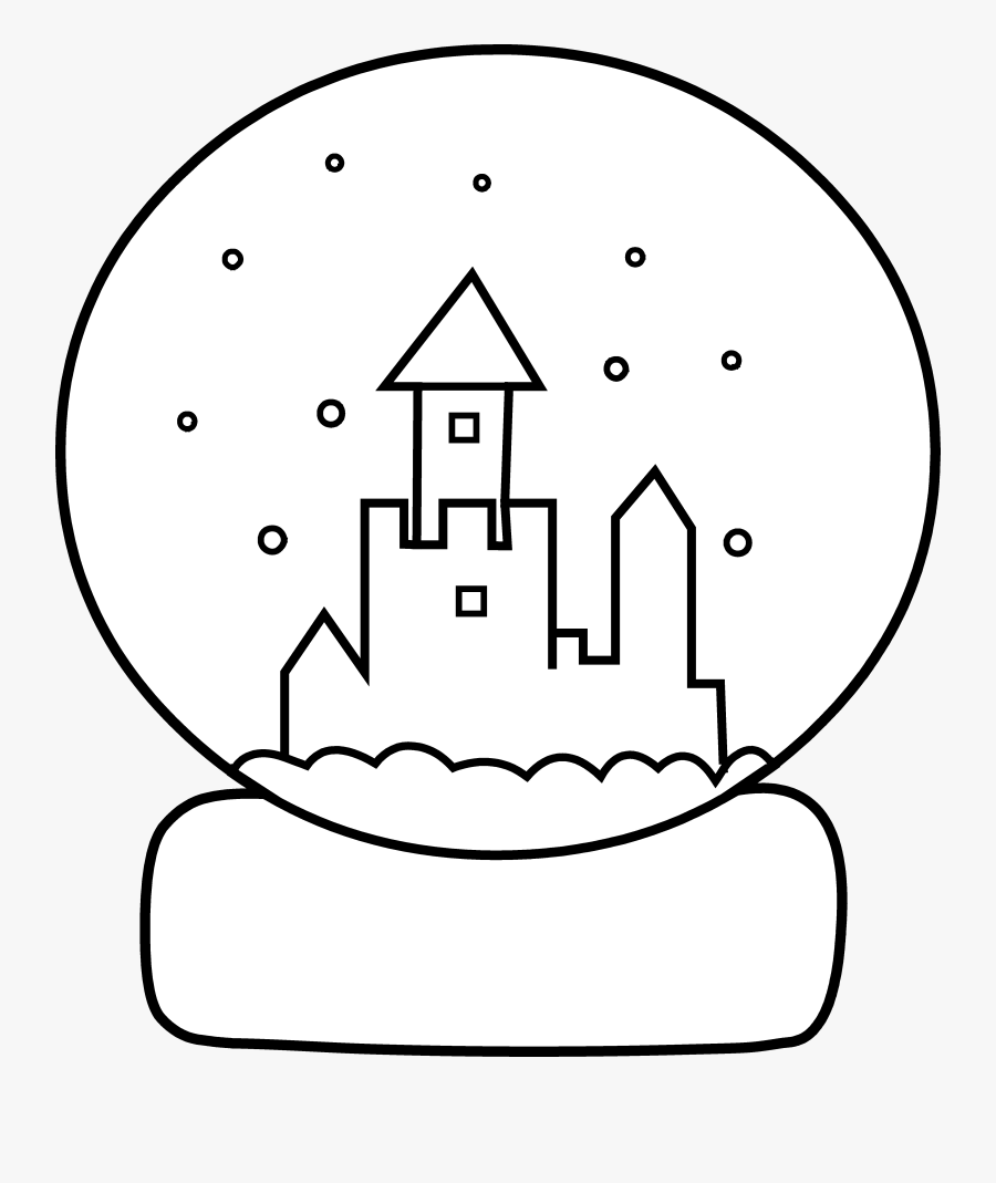 Snow Globe Coloring Page Clip Art Winter Snow Globes Colouring Free Transparent Clipart Clipartkey
