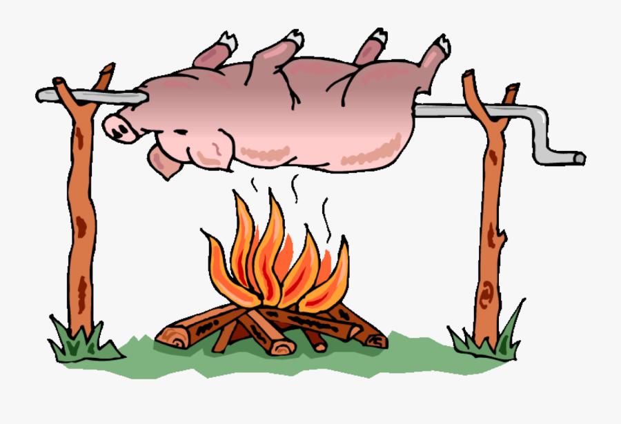 17th Annual Hog Roast - Pig Roast, Transparent Clipart