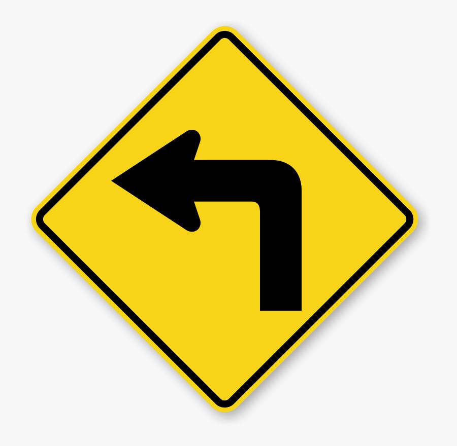 Left Turn Symbol - Traffic Signs Left Turn, Transparent Clipart