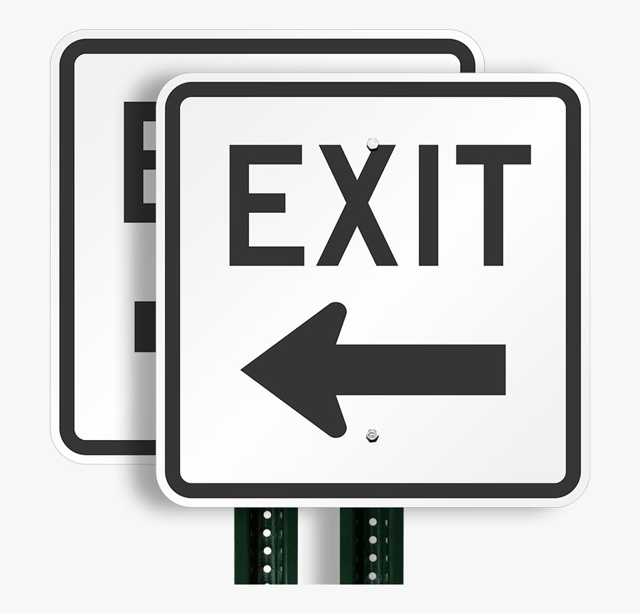 Traffic Clipart Full Parking Lot - Exit Only Road Sign, Transparent Clipart