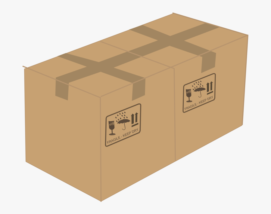 Box,angle,package Delivery - Cardboard Box On Transparent Background, Transparent Clipart