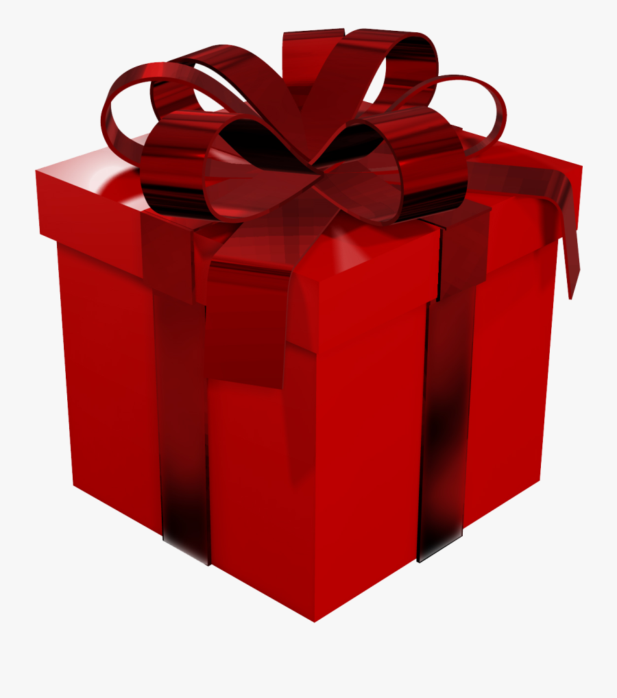 Large Red Gift Box Clipart - Red Gift Box Png, Transparent Clipart