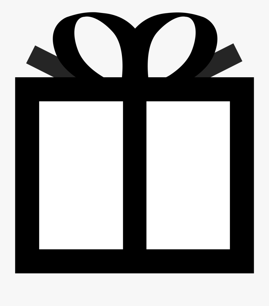 Gift Clipart Boxblack - Black And White Box Clipart Png, Transparent Clipart