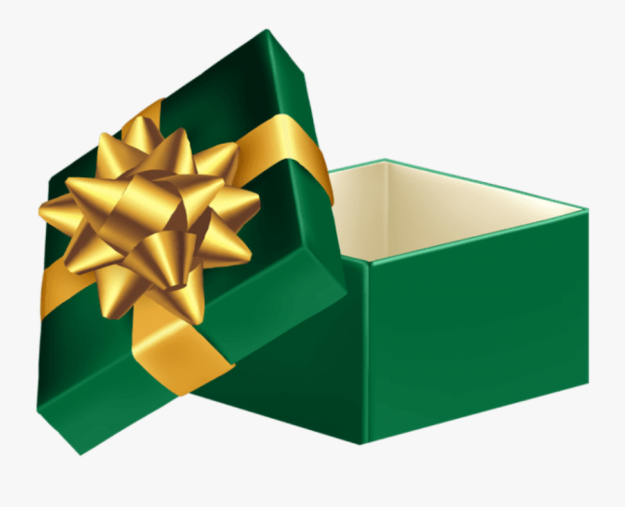 Download Green Open Gift Box Clipart Png Photo - Green Gift Box Png, Transparent Clipart
