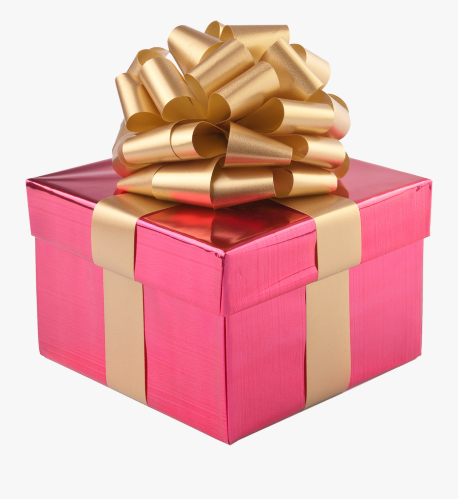 Silver Present Box Clipart, Christmas Presents Boxes - Pink Christmas Gifts Png, Transparent Clipart