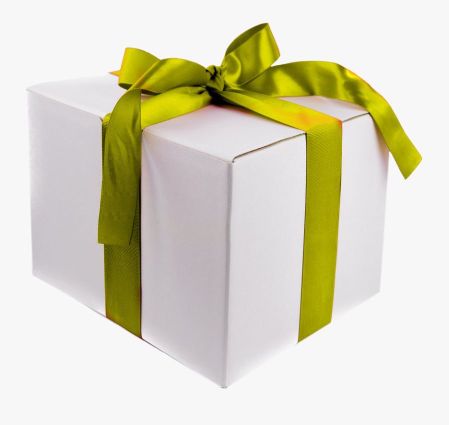 Birthday Clipart Gift Box Green Ribbon And Bow - Gift Box Transparent Background Present Clipart, Transparent Clipart
