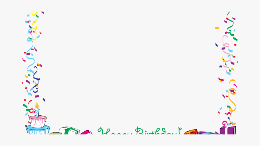 Jpg Free Library Borders Encode Clipart To Base For - Birthday Borders And Frames, Transparent Clipart