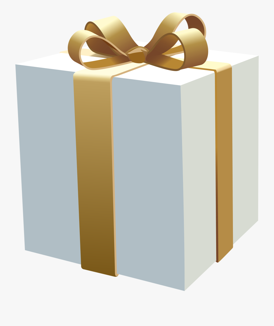 White Gift Box Png Clipart - Gift Box White Png, Transparent Clipart