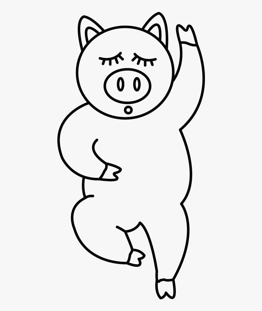 Adult How To Draw A Domestic Pig Easy Step By Drawing - Drawing, Transparent Clipart