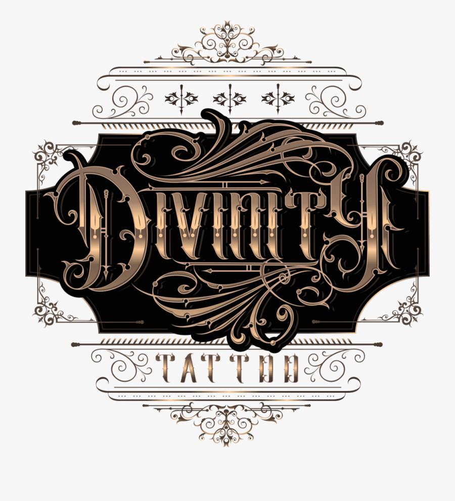 Clip Art Divinity - Destiny Tattoo Script Letters, Transparent Clipart