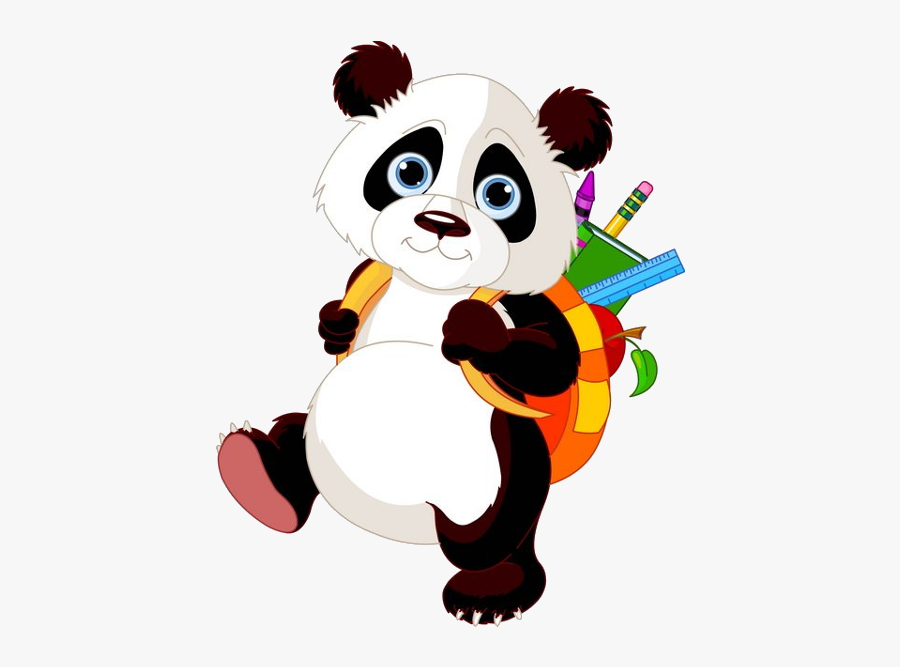 Panda Bears Cartoon Animal Images Free To Download - Cartoon Baby Panda Transparent, Transparent Clipart