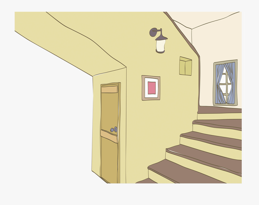 Clipart Royalty Free Architecture Photography Illustration - Stairs Inside House Illustration, Transparent Clipart